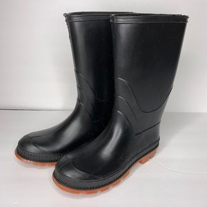 Other - Kids Black Rubber Rain Boots NWOB Chain-Link Sole